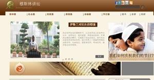 نموذج موقع منبر العالمي باللغة الصينية