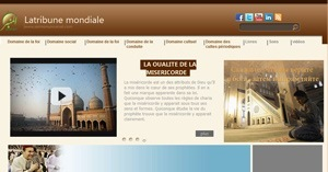 نموذج موقع منبر العالمي باللغة الفرنسية