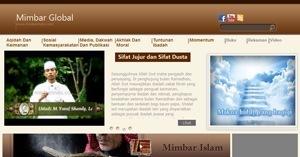 نموذج موقع منبر العالمي باللغة الإندونيسية