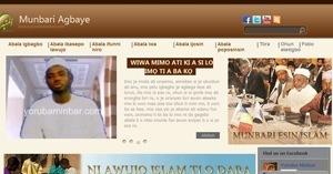 نموذج موقع منبر العالمي بلغة اليوربا
